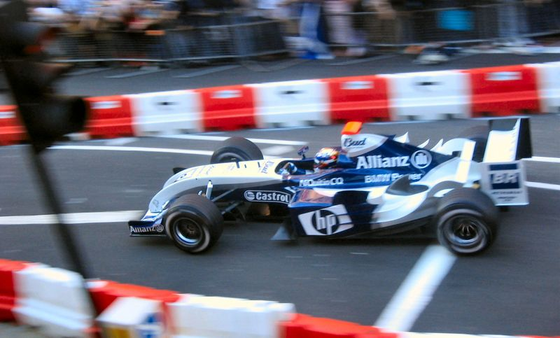 BMW.WilliamsF1 Team participated in a demonstration in London's Regent Street prior to the 2004 British Grand Prix.