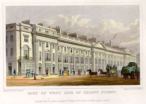 Nash's Regent Street in 1829. These buildings have been replaced.